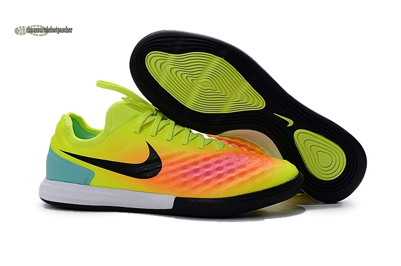 Ventes pas cher Nike MagistaX Finale II IC Vert Orange Rose