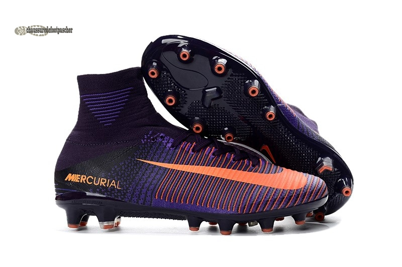 Ventes pas cher Nike Mercurial Superfly V AG Orange Pourpre