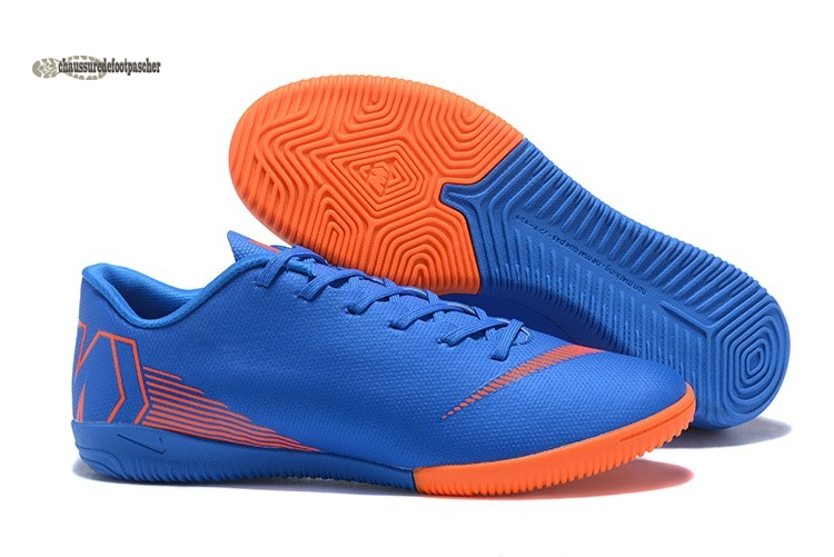 Ventes pas cher Nike Mercurial VaporX 12 Club IC Bleu Orange