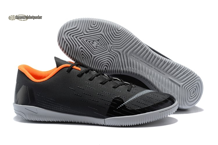Ventes pas cher Nike Mercurial VaporX 12 Club IC Noir Gris Orange