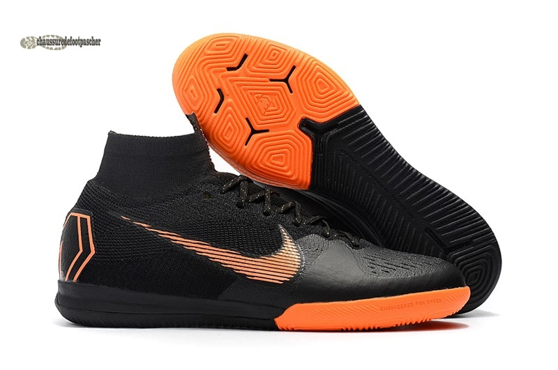 Ventes pas cher Nike SuperflyX 6 Elite IC Noir Orange