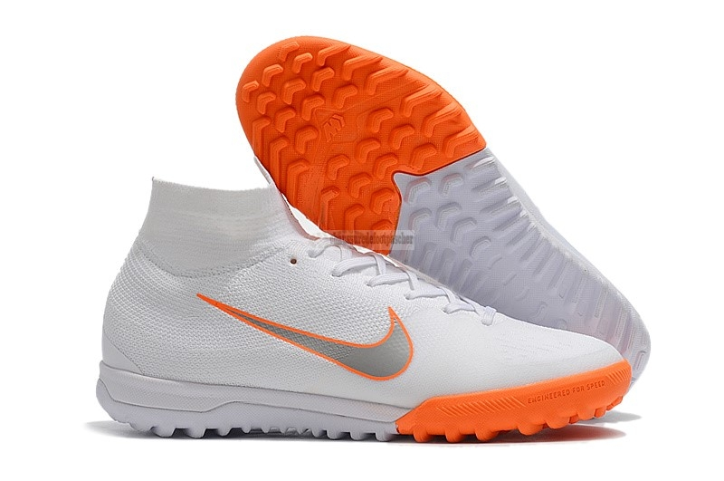 Ventes pas cher Nike SuperflyX 6 Elite TF Blanc Orange