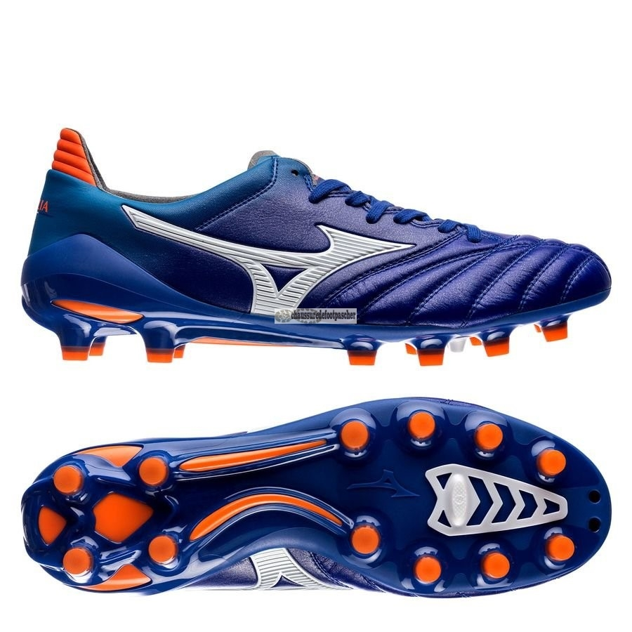 Ventes pas cher Mizuno Morelia Neo II Made in Japan FG Bleu Orange