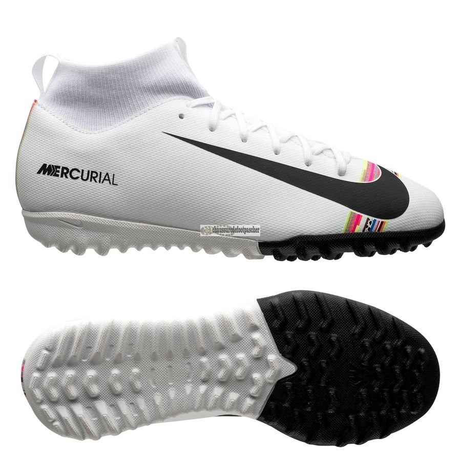 Ventes pas cher Nike Mercurial Superfly 6 Academy Enfant TF LVL UP Blanc