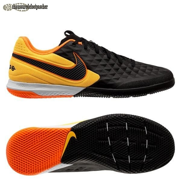 Ventes Pas Cher Nike Tiempo React Legend 8 Pro IC Noir Orange