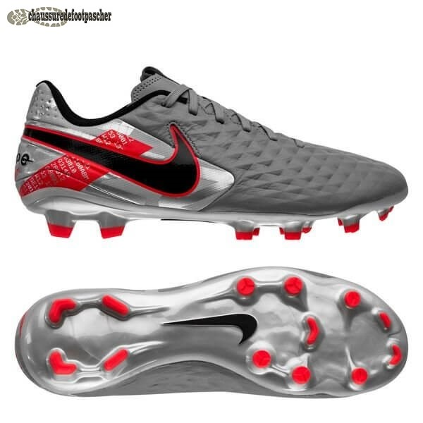 Ventes Pas Cher Nike Tiempo Legend 8 Academy MG Neighbourhood Métallique Gris Noir