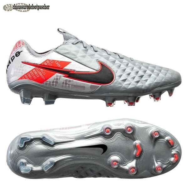 Ventes Pas Cher Nike Tiempo Legend 8 Elite FG Neighbourhood Métallique Gris Noir