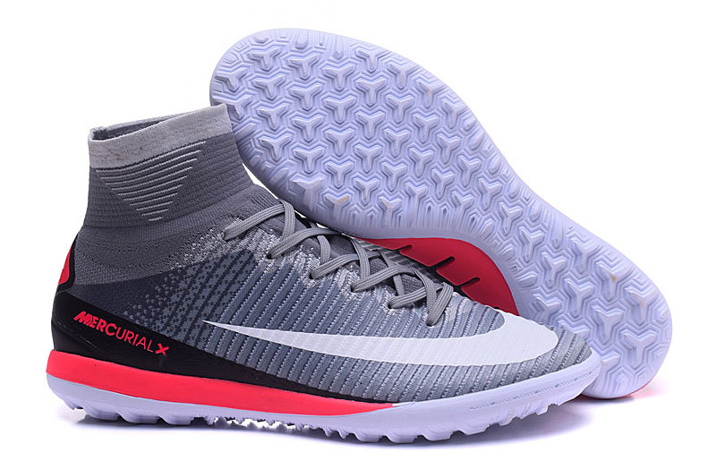 Ventes Pas Cher Nike MagistaX Proximo II TF Gris Blanc Rouge