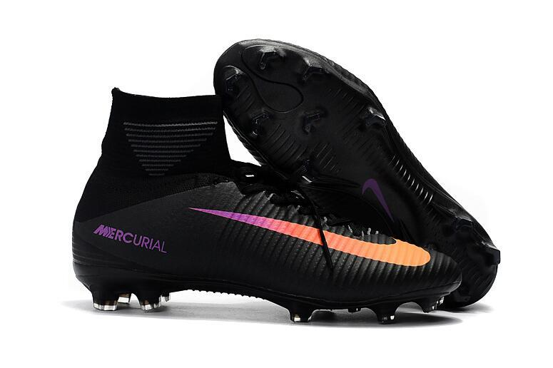 Ventes Pas Cher Nike Mercurial Superfly V FG Noir Orange