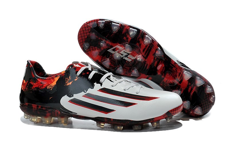 Ventes pas cher Adidas Messi F50 AG Blanc Rouge
