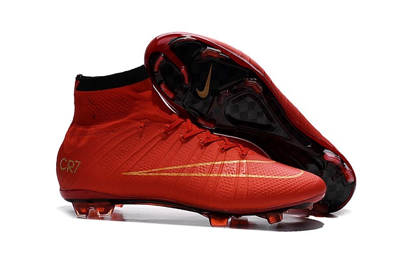 Ventes pas cher Nike Mercurial Superfly CR7 Enfant FG Cramoisi