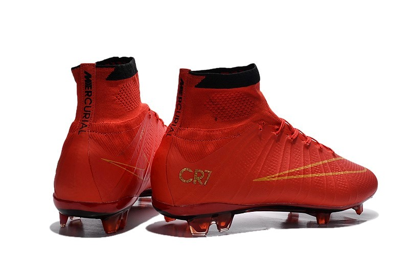 Ventes pas cher Nike Mercurial Superfly CR7 FG Cramoisi