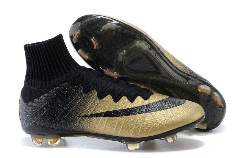 Chaussures Pas Cher Nike Mercurial Superfly FG Noir Or