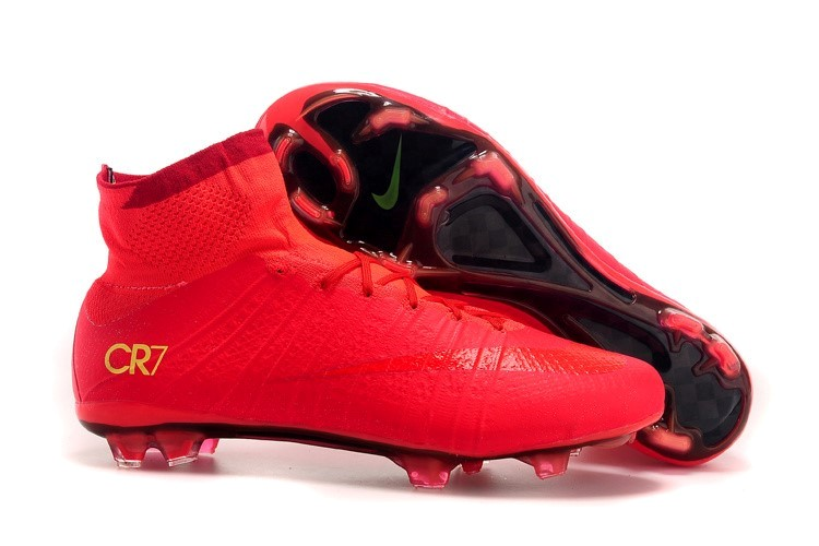 Ventes pas cher Nike Mercurial Superfly CR7 FG Rouge