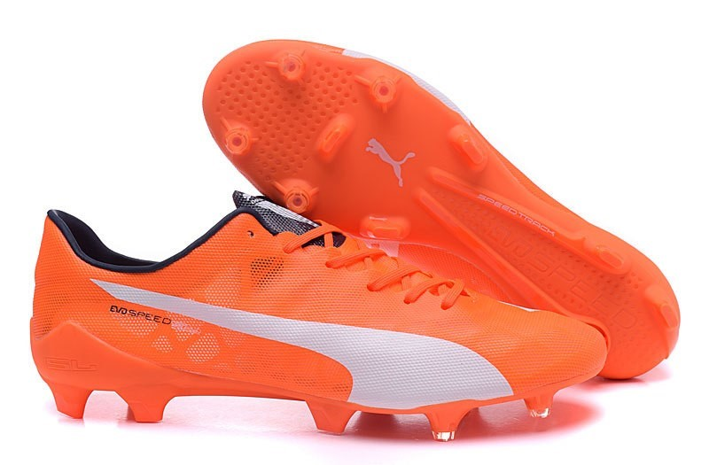 Ventes pas cher Puma evoPOWER FG Orange Blanc